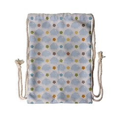 Baby Cloudy Star Cloud Rainbow Blue Sky Drawstring Bag (small)