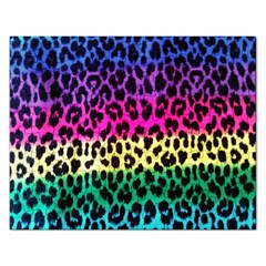 Cheetah Neon Rainbow Animal Rectangular Jigsaw Puzzl by Alisyart
