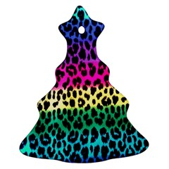 Cheetah Neon Rainbow Animal Christmas Tree Ornament (two Sides)
