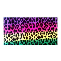 Cheetah Neon Rainbow Animal Satin Wrap by Alisyart