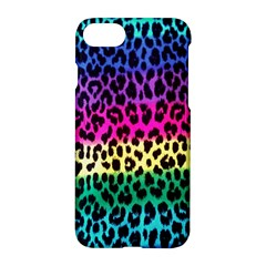 Cheetah Neon Rainbow Animal Apple Iphone 7 Hardshell Case by Alisyart