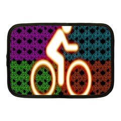Bike Neon Colors Graphic Bright Bicycle Light Purple Orange Gold Green Blue Netbook Case (medium)  by Alisyart