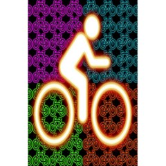 Bike Neon Colors Graphic Bright Bicycle Light Purple Orange Gold Green Blue 5 5  X 8 5  Notebooks by Alisyart