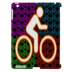 Bike Neon Colors Graphic Bright Bicycle Light Purple Orange Gold Green Blue Apple Ipad 3/4 Hardshell Case (compatible With Smart Cover)