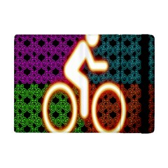Bike Neon Colors Graphic Bright Bicycle Light Purple Orange Gold Green Blue Apple Ipad Mini Flip Case by Alisyart