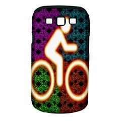 Bike Neon Colors Graphic Bright Bicycle Light Purple Orange Gold Green Blue Samsung Galaxy S Iii Classic Hardshell Case (pc+silicone)