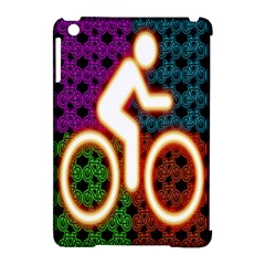 Bike Neon Colors Graphic Bright Bicycle Light Purple Orange Gold Green Blue Apple Ipad Mini Hardshell Case (compatible With Smart Cover)