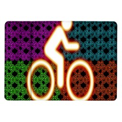 Bike Neon Colors Graphic Bright Bicycle Light Purple Orange Gold Green Blue Samsung Galaxy Tab 10 1  P7500 Flip Case