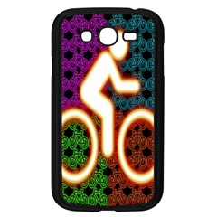 Bike Neon Colors Graphic Bright Bicycle Light Purple Orange Gold Green Blue Samsung Galaxy Grand Duos I9082 Case (black)