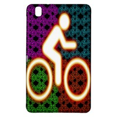 Bike Neon Colors Graphic Bright Bicycle Light Purple Orange Gold Green Blue Samsung Galaxy Tab Pro 8 4 Hardshell Case