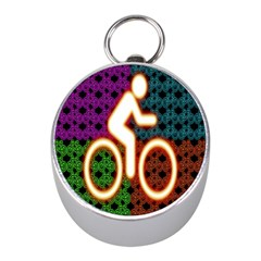 Bike Neon Colors Graphic Bright Bicycle Light Purple Orange Gold Green Blue Mini Silver Compasses by Alisyart
