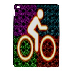 Bike Neon Colors Graphic Bright Bicycle Light Purple Orange Gold Green Blue Ipad Air 2 Hardshell Cases