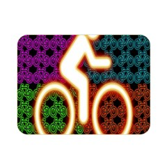 Bike Neon Colors Graphic Bright Bicycle Light Purple Orange Gold Green Blue Double Sided Flano Blanket (mini)