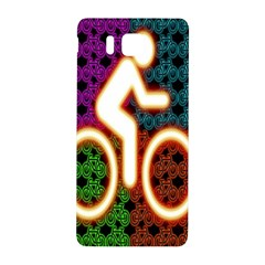 Bike Neon Colors Graphic Bright Bicycle Light Purple Orange Gold Green Blue Samsung Galaxy Alpha Hardshell Back Case