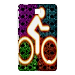 Bike Neon Colors Graphic Bright Bicycle Light Purple Orange Gold Green Blue Samsung Galaxy Tab 4 (8 ) Hardshell Case