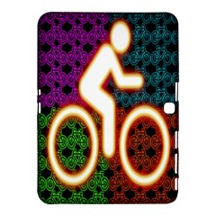 Bike Neon Colors Graphic Bright Bicycle Light Purple Orange Gold Green Blue Samsung Galaxy Tab 4 (10 1 ) Hardshell Case  by Alisyart