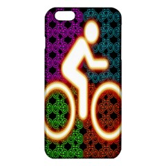 Bike Neon Colors Graphic Bright Bicycle Light Purple Orange Gold Green Blue Iphone 6 Plus/6s Plus Tpu Case