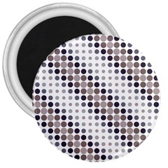 Circle Blue Grey Line Waves Black 3  Magnets by Alisyart