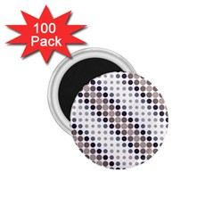 Circle Blue Grey Line Waves Black 1 75  Magnets (100 Pack)  by Alisyart