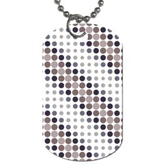 Circle Blue Grey Line Waves Black Dog Tag (two Sides) by Alisyart