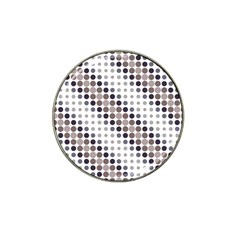 Circle Blue Grey Line Waves Black Hat Clip Ball Marker (10 Pack) by Alisyart