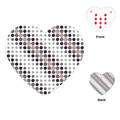 Circle Blue Grey Line Waves Black Playing Cards (heart)