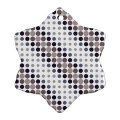 Circle Blue Grey Line Waves Black Snowflake Ornament (two Sides) by Alisyart