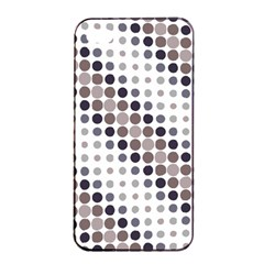 Circle Blue Grey Line Waves Black Apple Iphone 4/4s Seamless Case (black)
