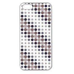 Circle Blue Grey Line Waves Black Apple Seamless Iphone 5 Case (clear) by Alisyart