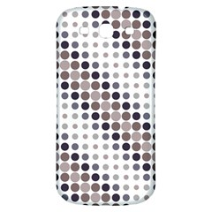Circle Blue Grey Line Waves Black Samsung Galaxy S3 S Iii Classic Hardshell Back Case by Alisyart