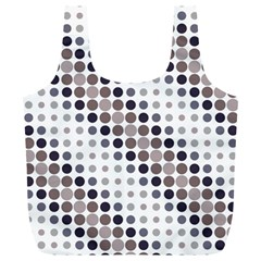 Circle Blue Grey Line Waves Black Full Print Recycle Bags (l)  by Alisyart