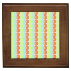 Circles Orange Blue Green Yellow Framed Tiles by Alisyart