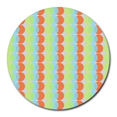 Circles Orange Blue Green Yellow Round Mousepads