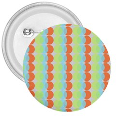 Circles Orange Blue Green Yellow 3  Buttons by Alisyart