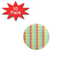 Circles Orange Blue Green Yellow 1  Mini Magnet (10 Pack)