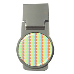 Circles Orange Blue Green Yellow Money Clips (round)