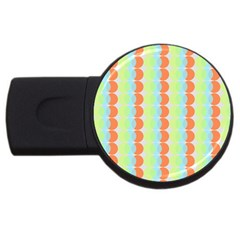 Circles Orange Blue Green Yellow Usb Flash Drive Round (2 Gb)