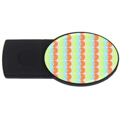 Circles Orange Blue Green Yellow Usb Flash Drive Oval (4 Gb) by Alisyart