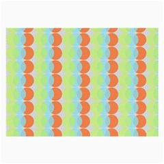 Circles Orange Blue Green Yellow Large Glasses Cloth (2 Side) by Alisyart