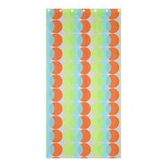 Circles Orange Blue Green Yellow Shower Curtain 36  X 72  (stall)
