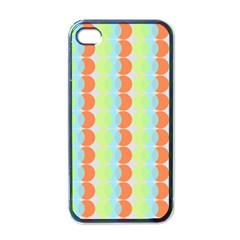 Circles Orange Blue Green Yellow Apple Iphone 4 Case (black) by Alisyart