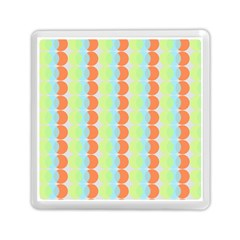 Circles Orange Blue Green Yellow Memory Card Reader (square)