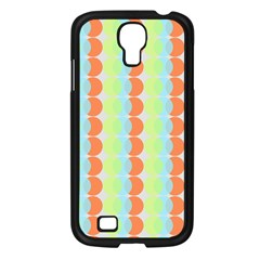 Circles Orange Blue Green Yellow Samsung Galaxy S4 I9500/ I9505 Case (black) by Alisyart