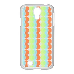 Circles Orange Blue Green Yellow Samsung Galaxy S4 I9500/ I9505 Case (white)
