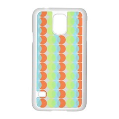 Circles Orange Blue Green Yellow Samsung Galaxy S5 Case (white)