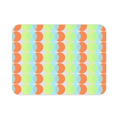 Circles Orange Blue Green Yellow Double Sided Flano Blanket (mini)  by Alisyart
