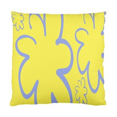 Doodle Shapes Large Flower Floral Grey Yellow Standard Cushion Case (one Side) by Alisyart