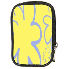 Doodle Shapes Large Flower Floral Grey Yellow Compact Camera Cases by Alisyart