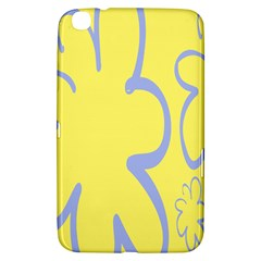 Doodle Shapes Large Flower Floral Grey Yellow Samsung Galaxy Tab 3 (8 ) T3100 Hardshell Case