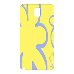 Doodle Shapes Large Flower Floral Grey Yellow Samsung Galaxy Note 3 N9005 Hardshell Back Case